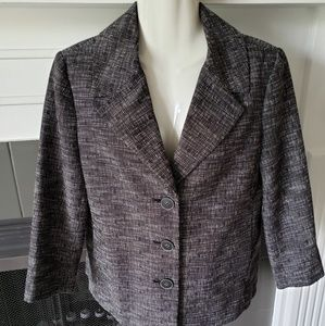 Rafaella Jackets & Coats - Rafaella Gray Career Dress Blazer 8